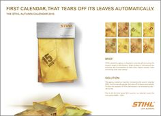» Stihl Calendar advertising/design goodness – advertising and design blog: The best ads & designs and sometimes the worst around the globe.