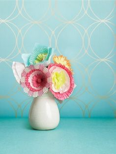 Craft: Pretty paper posies | Todays Parent