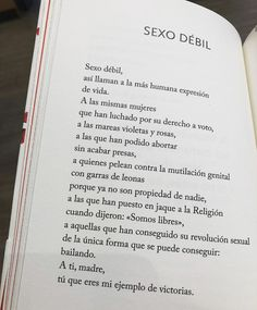 Poetry Quotes, Book Quotes, Words Quotes, Feminist Quotes, Feminist Af, Children Of The Revolution, Positive Inspiration, Spanish Quotes, Girls Be Like