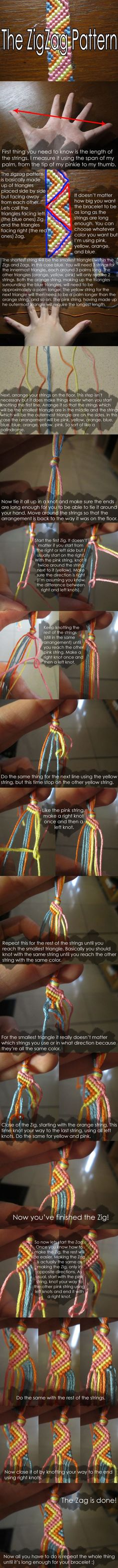 Zigzag Bracelet Tutorial by ~clarrr17 on deviantART