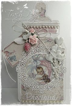 Hello Everyone, I'll apologise now for the amount of photo's, you may need to grab yourself a coffee. actually a flask may be more appr. Baby Girl Cards, New Baby Cards, Baby Scrapbook, Scrapbook Cards, Baby Gift Sets, Baby Gifts, Baby Barn, Shabby Chic Cards, Baby Clip Art