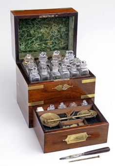 Rosewood and Brass Apothecary Box