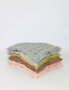 Linen Handtack Cushion - variety of colors