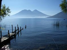 Breathtaking Lago Atitlan surrounded by it's 3 big brothers - Guatemala