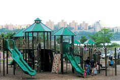 Swinging and sliding at NJ playgrounds @NJ Playgrounds