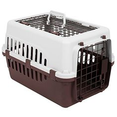 buy now   £18.89  Home Discount offers this stunning new product with a modern stylish design, the Pet Carrier, White & Brown, 2 Door. This pet carrier is the perfect item  ...Read More