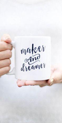 'Maker & Dreamer,' mug