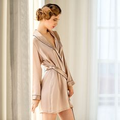 Women's 100% Pure Mulberry Silk Robe Luxury Pajama robes Sexy Nightwear Silk Nighties sexy lingerie nightgown female sleepwear-in Robes from…