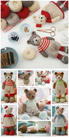 Crochet Stuff Bears Patterns Knitted Teddy Bear Patterns To Melt Your Heart - You will love this collection of Knitted Teddy Bear Patterns and we have rounded up our favorites. Knitting Bear, Teddy Bear Knitting Pattern, Animal Knitting Patterns, Knitted Teddy Bear, Teddy Bear Toys, Crochet Bear, Teddy Bears, Knitting Toys, Crochet Dolls