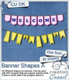 #Banner #Shape A - #Font - Do you want to create various banners to embellish your layouts? Are you tired of the same old shapes?