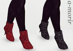 Custom made Crystal Ankle Boots A-Morir by Kerin Rose Weinberg by ArtSims - Sims 3 Downloads CC Caboodle