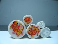 Murrina pez koi en arcilla polimérica - Polymer clay koi fish cane - YouTube
