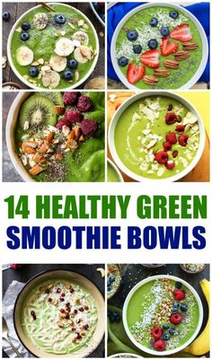 Are you looking for the best smoothie bowl recipes to help you reach your goals? These 14 healthy green smoothie bowls are delicious and nutritious!