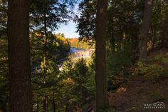 Fall Morning at Upper Tahquamenon Falls Michigan Waterfalls, Autumn Morning, Water Sources, Upper Peninsula, Great Lakes, Pond, Traveling, Urban, Nature