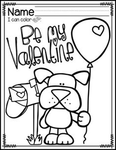 VALENTINE'S DAY COLORING PAGES {FREEBIE} - TeachersPayTeachers.com