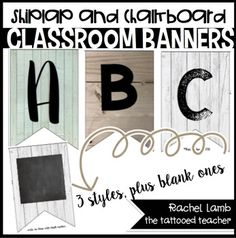Farmhouse Chic Banner KitThis file is included in my Farmhouse Chic BUNDLE, so if you own that, please do not purchase this file!Love the style Joanna uses on Fixer Upper? Who doesn't! Bring that style into your own classroom with this simple, yet beautiful design using real images of wood and shiplap.