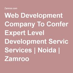 Web Development Company To Confer Expert Level Development Services