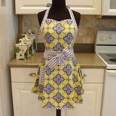 Flirty Chic Apron    pretty petals patern in by FancyBoutique, $30.00