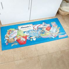 Laundry Room Double-Sized Mat $29.99..too bad these type of mats don't hold their color long and are nearly impossible to clean.