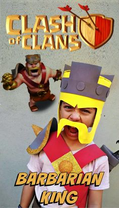 Clash of Clans Barbarian King costume for Halloween (or ComicCon! Clash Of Clans Hack, Clash Of Clans Gems, Clash Of Clams, Free Gems Coc, Clash Of Clans Gameplay, Halloween Fun, Halloween Costumes, Clan Games, Barbarian King