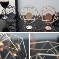 This bestseller suits every space in every home! Handmade metal geometric candleholder, ideal to hold tealights. Available in 3 colors. Candle Stand, Tealight Candle Holders, Geometric Candle Holder, Tin Candles, Home Wedding, Tea Light Holder, Candlesticks, Tea Lights, Shop Ideas