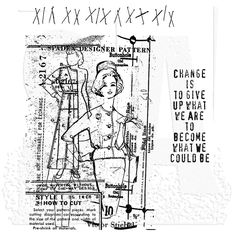 Tim Holtz Cling Mount Stamps - Pattern Pieces CMS012
