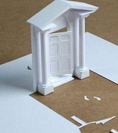 Voici une oeuvre d'architecture découpée dans le papier