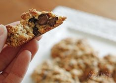 Low Fat Chewy Chocolate Chip Oatmeal Cookies | Skinnytaste