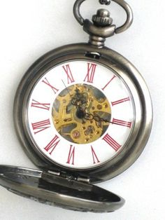 Steampunk - VICTORIAN TIMES - Pocket Watch - Mechanical - Necklace - Antique…