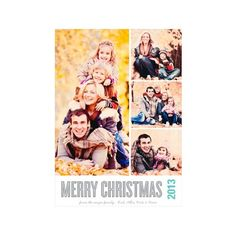 Holiday Photo Cards -- Photo Paper Stacked Photos