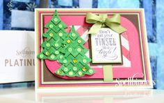Sweet and Sassy Christmas card by Loretta Lock | Spellbinders