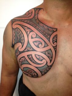 Samoan Chest Tattoos for Men | Samoan Tattoo Designs for Men