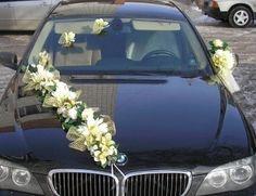 RIBBON WITH BOWS wedding car decoration prom limo decoration  slub wesele