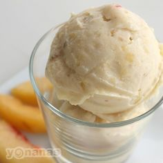Looks, tastes & feels like creamy peach ice cream but it is 100% fruit! Make this dairy-free Perfectly Peach Yonanas Recipe with just bananas & peaches.