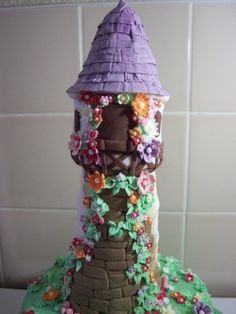 Disney Tangled Rapunzel Birthday Cake By Kate28 on CakeCentral.com