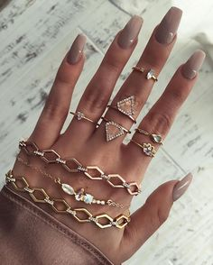 ✧♡✧B L Ü S H✧♡✧ falling in love with these new rose gold chokers and moonstone ring stacks ♡✧♡✧♡ www.childofwild.com #childofwild #vday