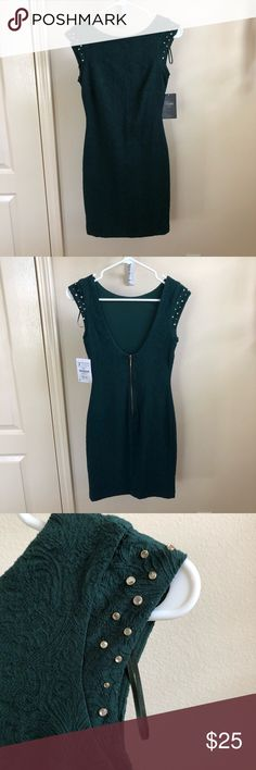 4f1cc3b30 Shop Women's Zara Green size S Dresses at a discounted price at Poshmark.  Description: NET beautiful emerald green Zara dress with low back.