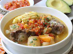 Sancocho de Cola de Res www.antojandoando.com Slow Cooker Recipes, Soup Recipes, Cooking Recipes, Recipies, Columbian Recipes, Venezuelan Food, Latin American Food, Colombian Food, Puerto Rican Recipes