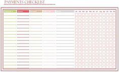 Imprimir Bill Lista de pagos
