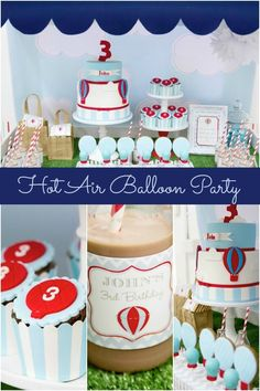 Hot Air Balloon Themed Birthday Party Ideas www.spaceshipsandlaserbeams.com