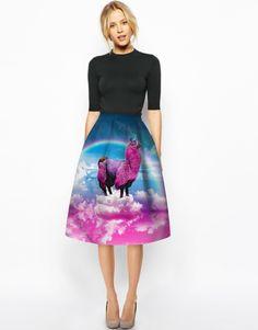 Find More Skirts Information about New Foreign Trend European Fashion Elegant Women 3D Rainbow Unicorn Big Hem Skirt High Waist Umbrella Skirt,High Quality dress to look thinner,China dress up princess party Suppliers, Cheap dress panel from Riel Technology Co.,LTD on Aliexpress.com