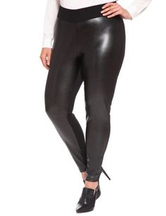 Faux Leather Legging from eloquii.com