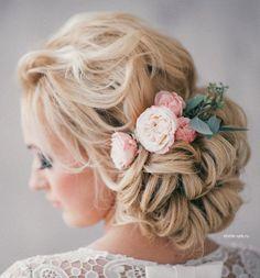 wedding hair style idea; Via Elstile