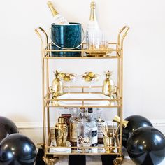 """Receive excellent ideas on """"bar cart decorating"""". They are actually readily avai… - Lampe ideen Diy Bar Cart, Gold Bar Cart, Bar Cart Styling, Bar Cart Decor, Bar Carts, Mid-century Modern, Trendy Bar, Metal Tree Wall Art, Contemporary Home Decor"""