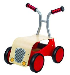 Ride like the wind! The Little Red Rider from Hape begins as a walker for your toddlers and grows with them to become a foot-powered adventure car. Classically designed and sourced from environmental...