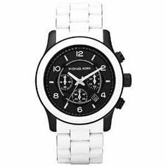 Michael Kors Oversized White Silicone Chronograph Mens Watch MK8178