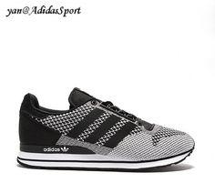 Hombres Adidas Originals ZX 500 OG Weave Zapatillas en Blanco y Negro Barcelona