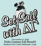 Delta Gamma Fall Benefit. Love the vintage feel.