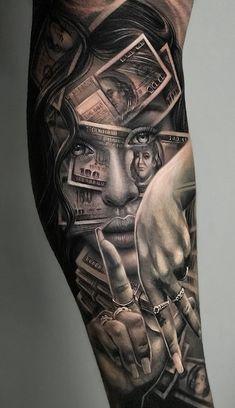Fantastic pieces by the super talented - - Tattoo frauen - Chicano Tattoos Sleeve, Forarm Tattoos, Leg Sleeve Tattoo, Dope Tattoos, Best Sleeve Tattoos, Badass Tattoos, Tattoo Sleeve Designs, Forearm Tattoo Men, Tattoo Designs Men