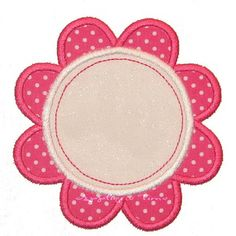 Flower Frame Machine Embroidery Applique Design by appliquetime, $2.50